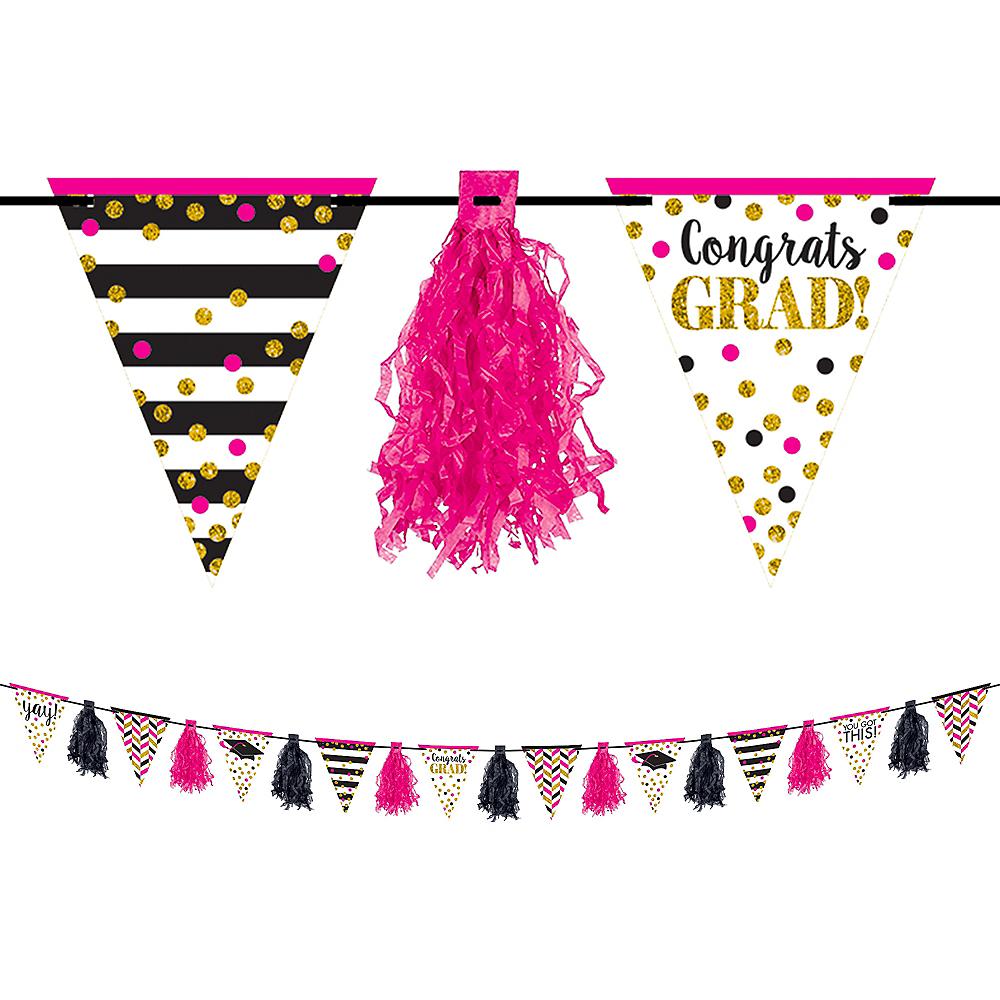 Glitter Confetti Graduation Tassel Garland Image #1