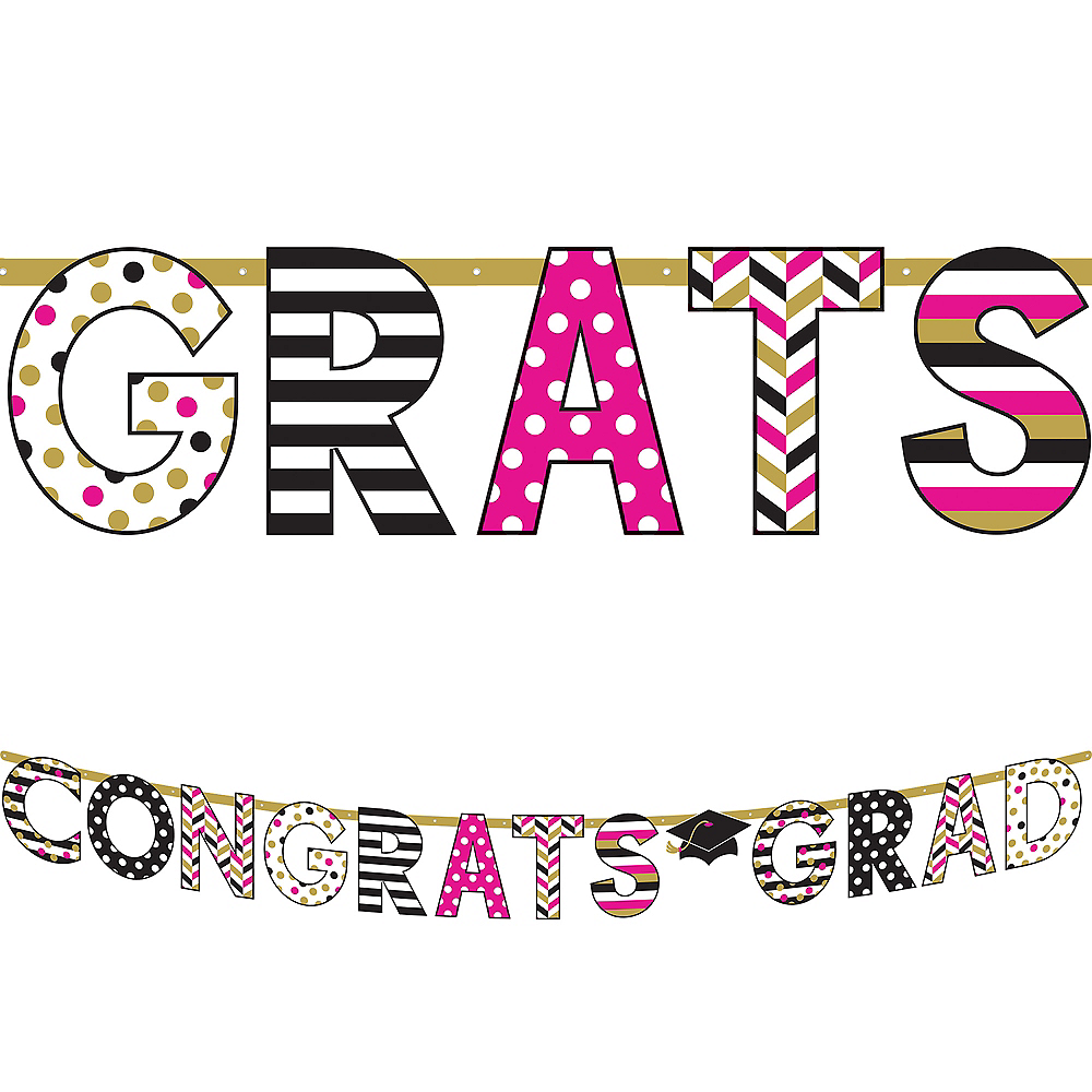 Giant Confetti Graduation Letter Banner Image #1