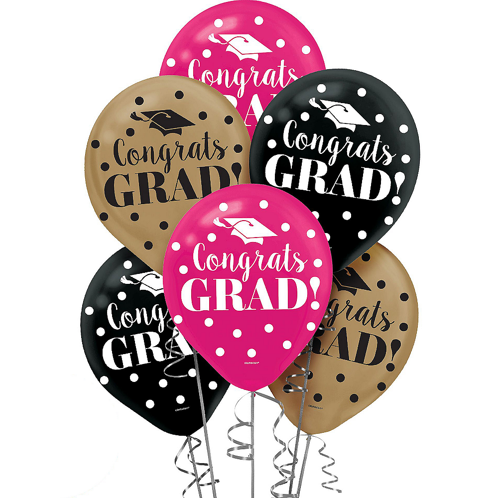Nav Item for Confetti Graduation Balloons 15ct Image #1