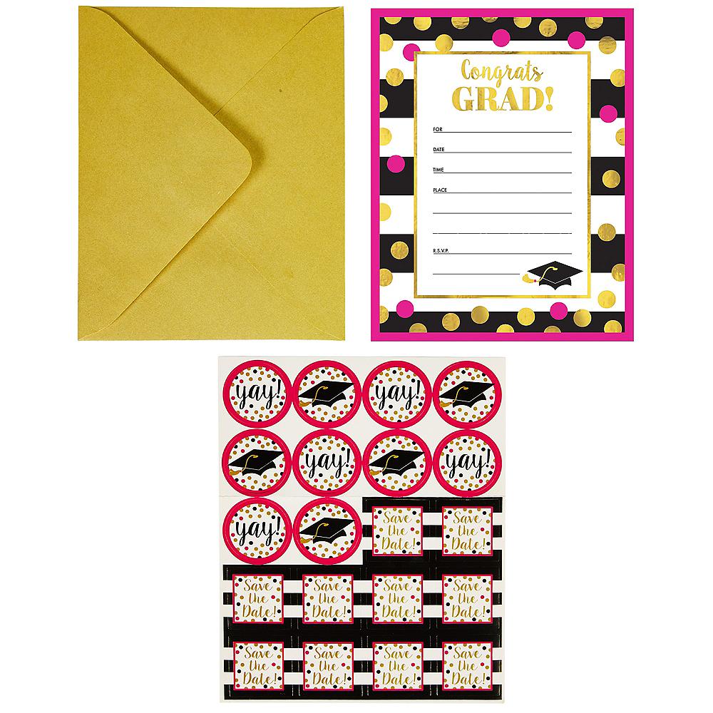 Confetti Graduation Invitations 20ct Image #2