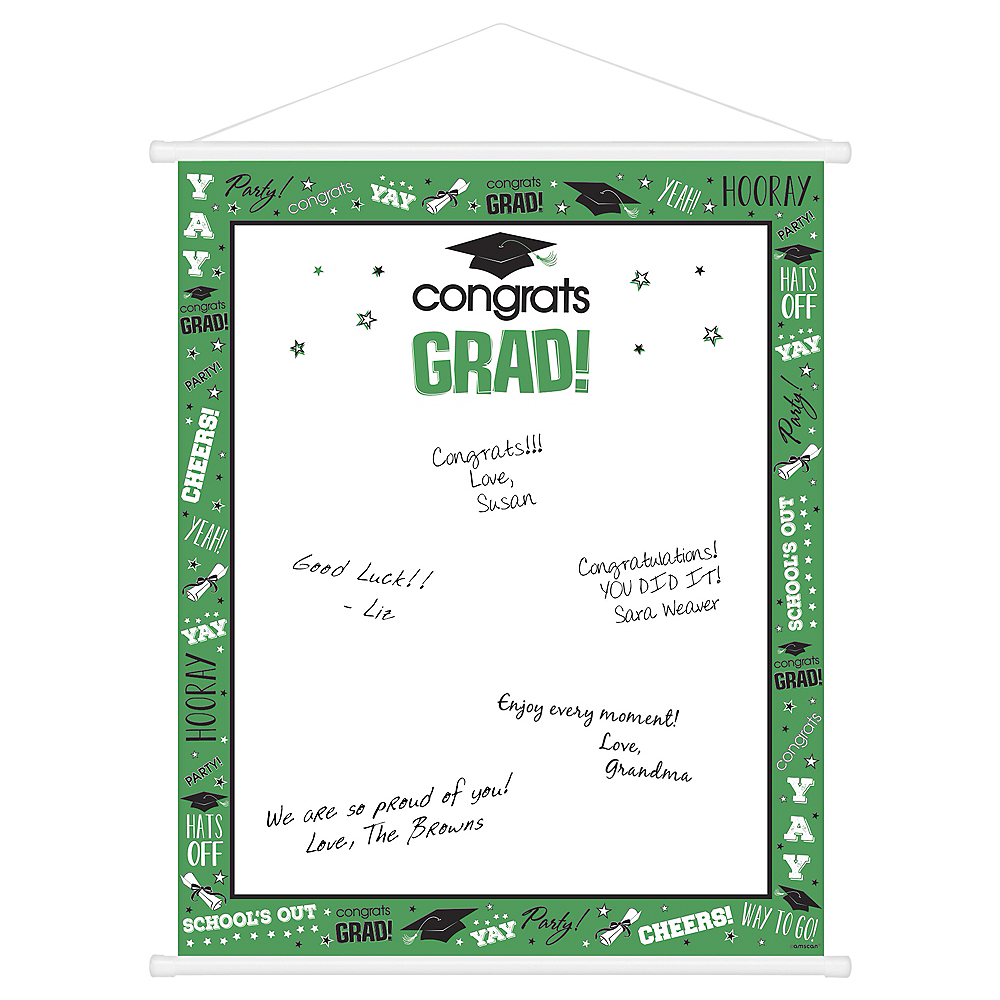 Green Graduation Sign-In Sheet Image #1