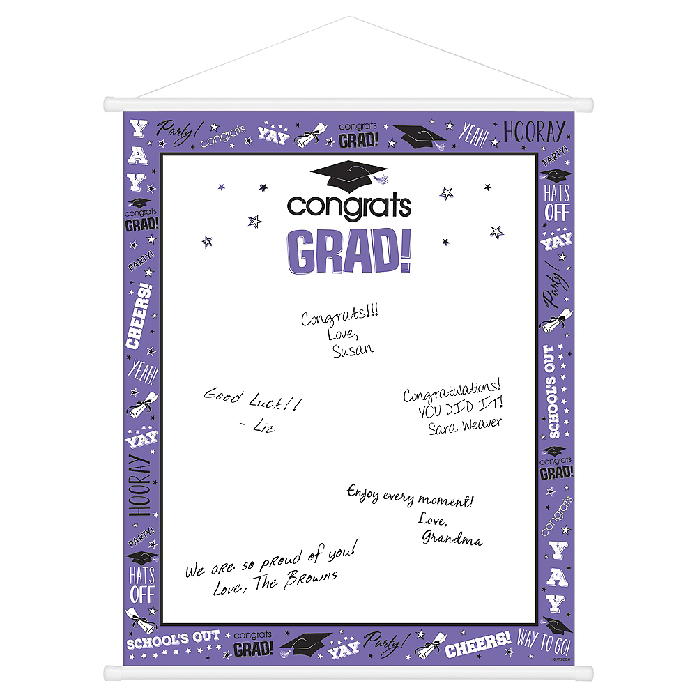 Nav Item for Purple Graduation Sign-In Sheet Image #1
