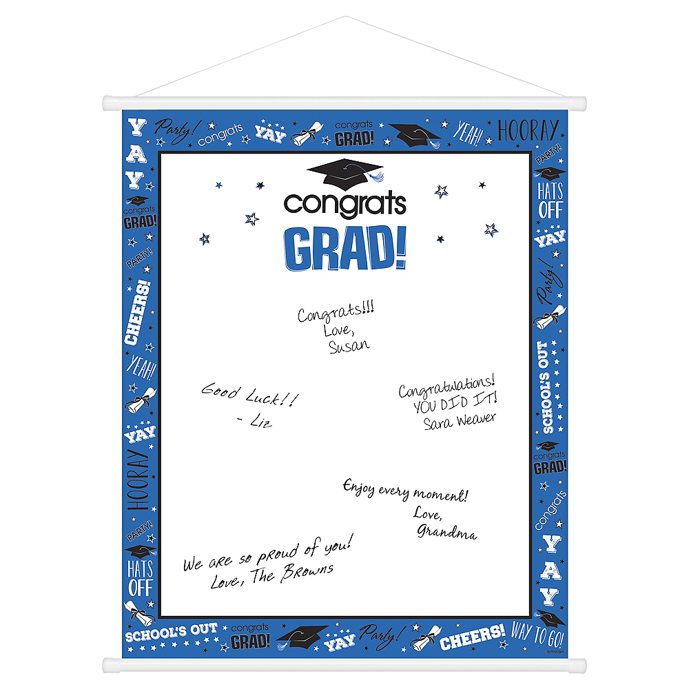 Blue Graduation Sign-In Sheet Image #1