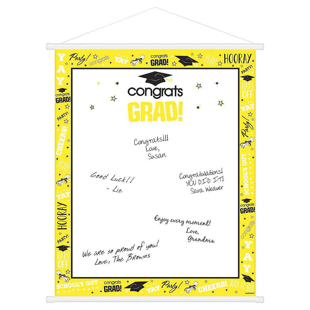 Yellow Graduation Sign-In Sheet Image #1