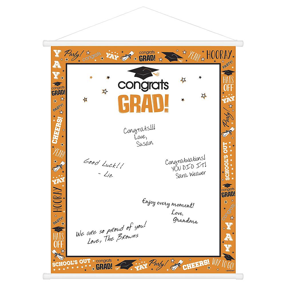 Orange Graduation Sign-In Sheet Image #1