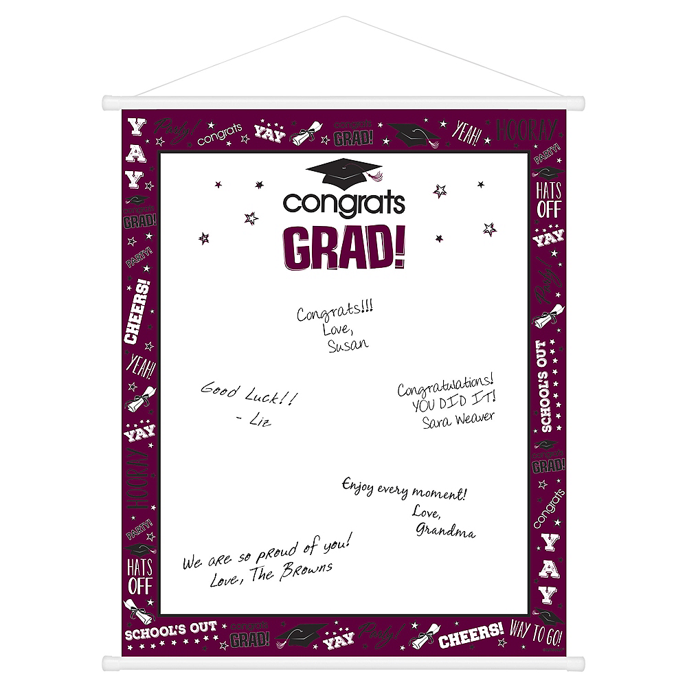 Berry Graduation Sign-In Sheet Image #1