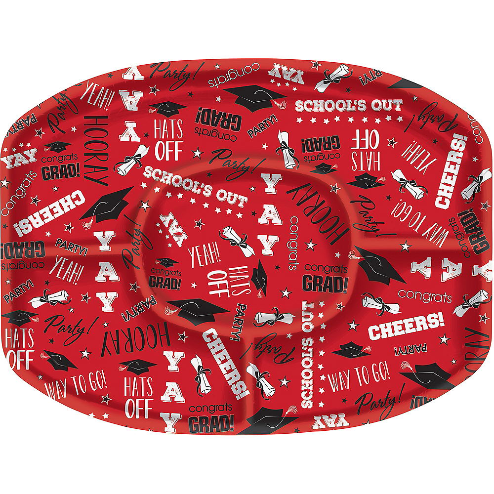 Red Graduation Sectional Platter Image #1