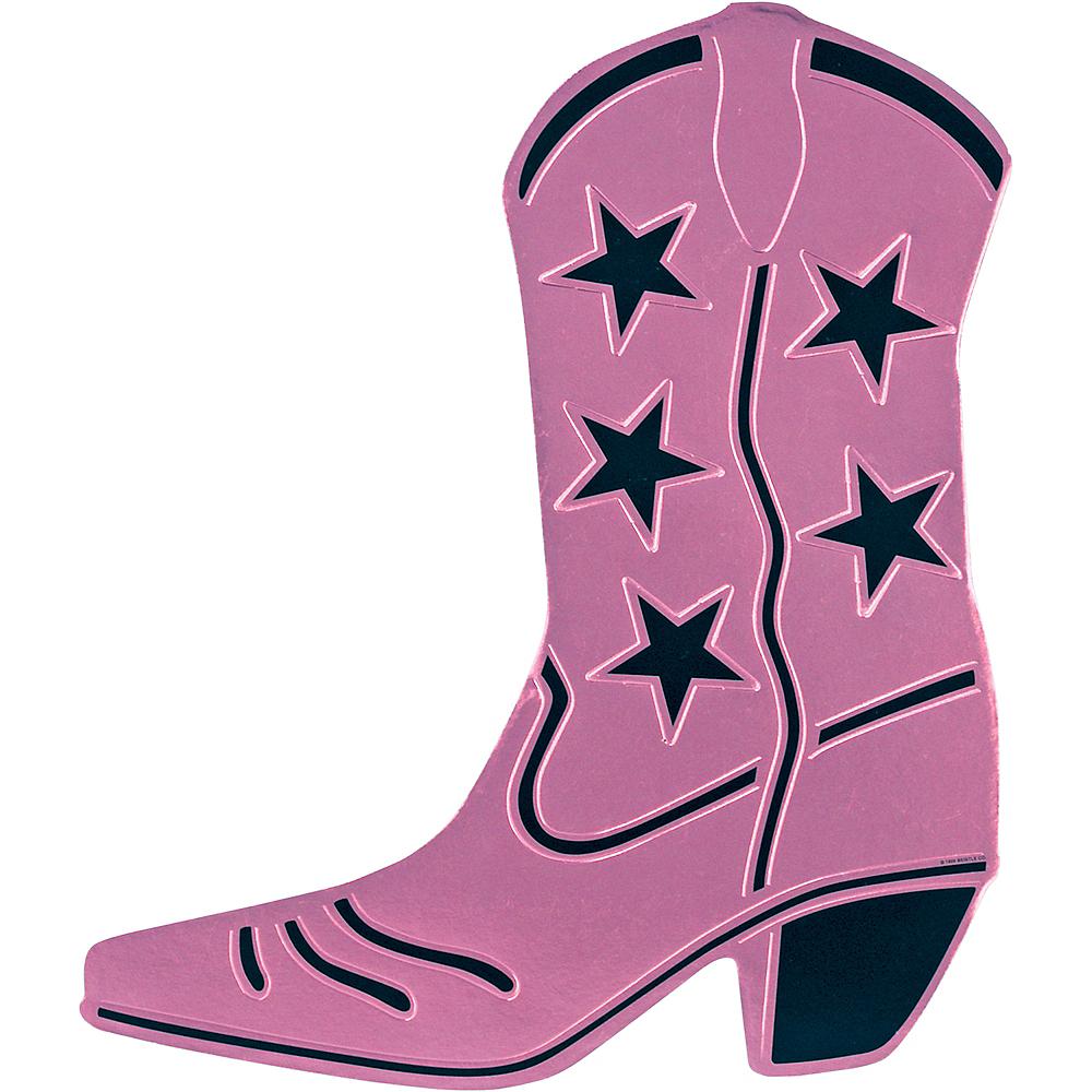 Pink Cowboy Boot Cutout Image #1