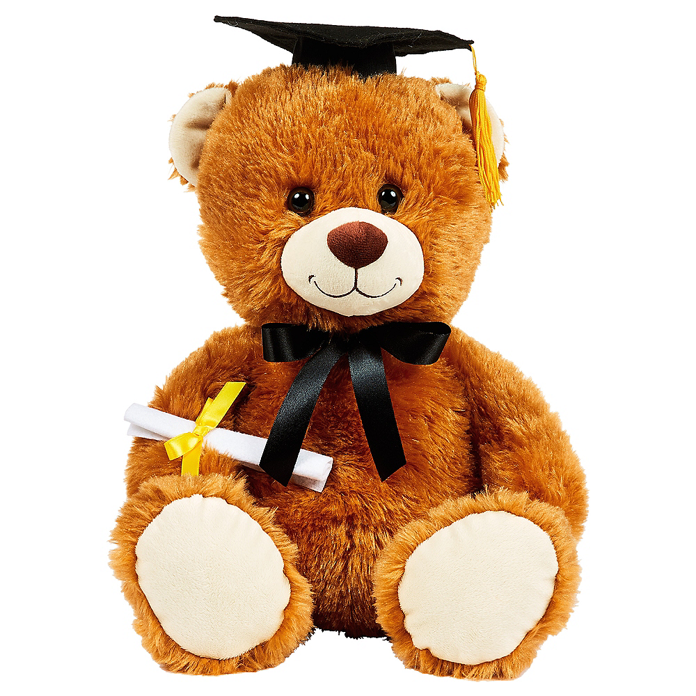 Brown Graduation Bear Plush Image #1