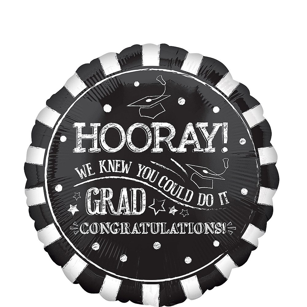 Giant Chalk Hooray Graduation Balloon, 28in Image #1