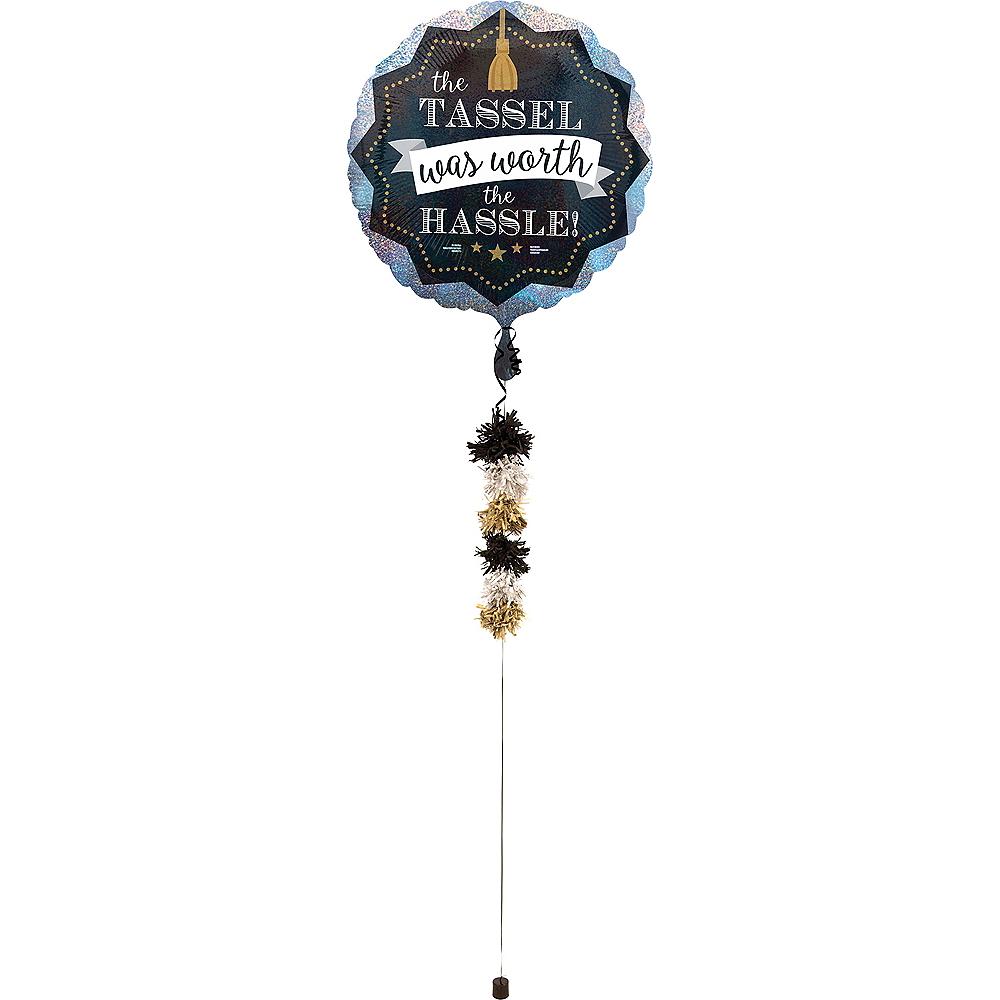 Graduation Balloon with Balloon Weight Tail Image #1