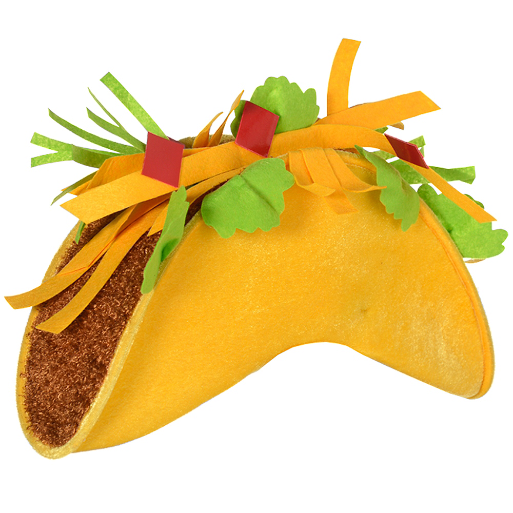 taco hat 4in x 9in party city