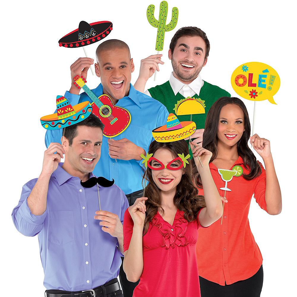Fiesta Photo Booth Props 13ct Image #1