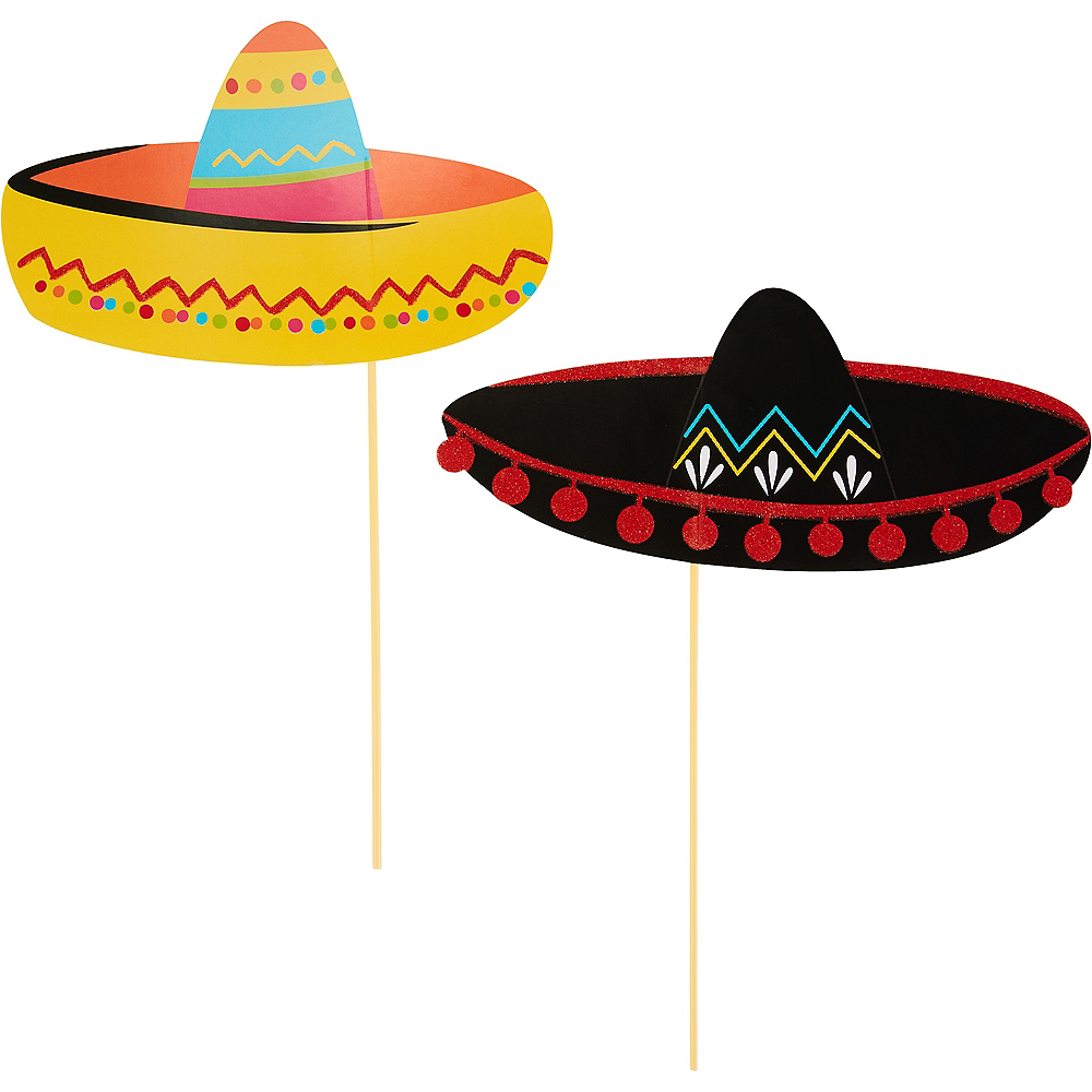 Fiesta Photo Booth Props 13ct Image #3