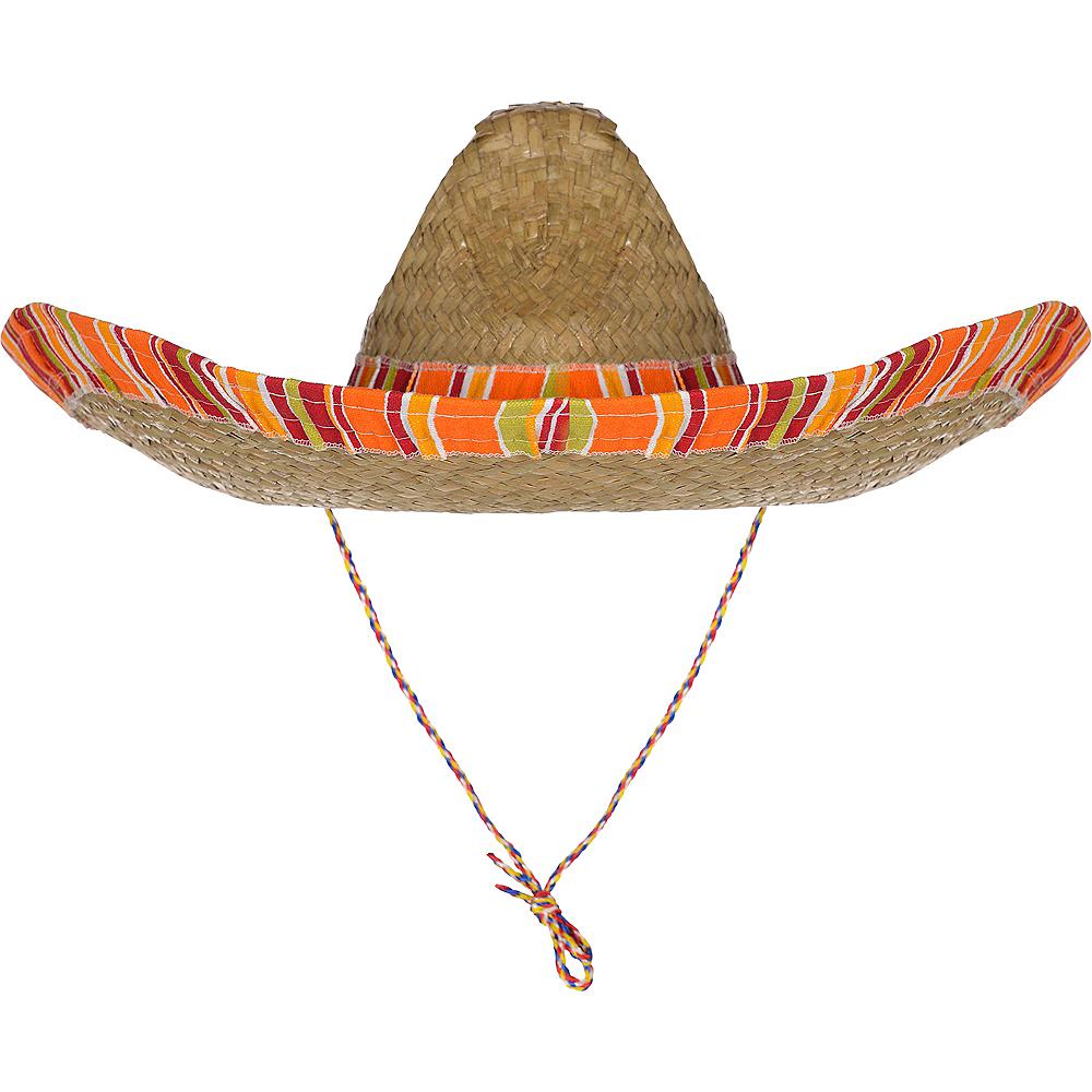 Serape Straw Sombrero Image #2