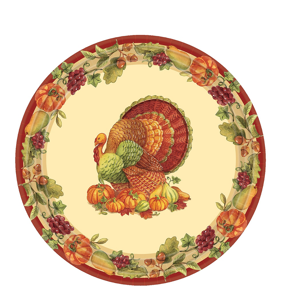 Joyful Thanksgiving Tableware Kit for 50 Guests Image #2