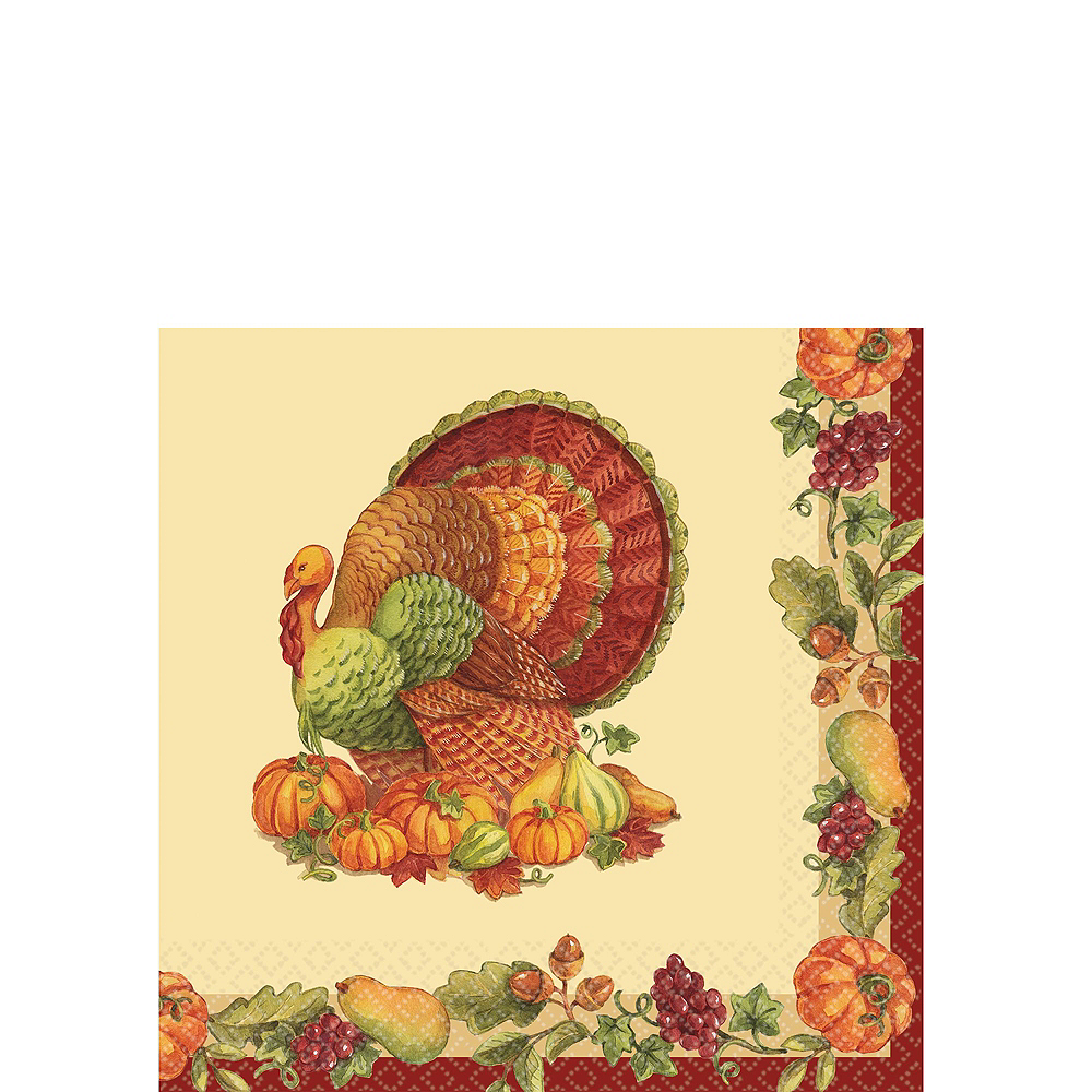 Joyful Thanksgiving Tableware Kit for 50 Guests Image #7