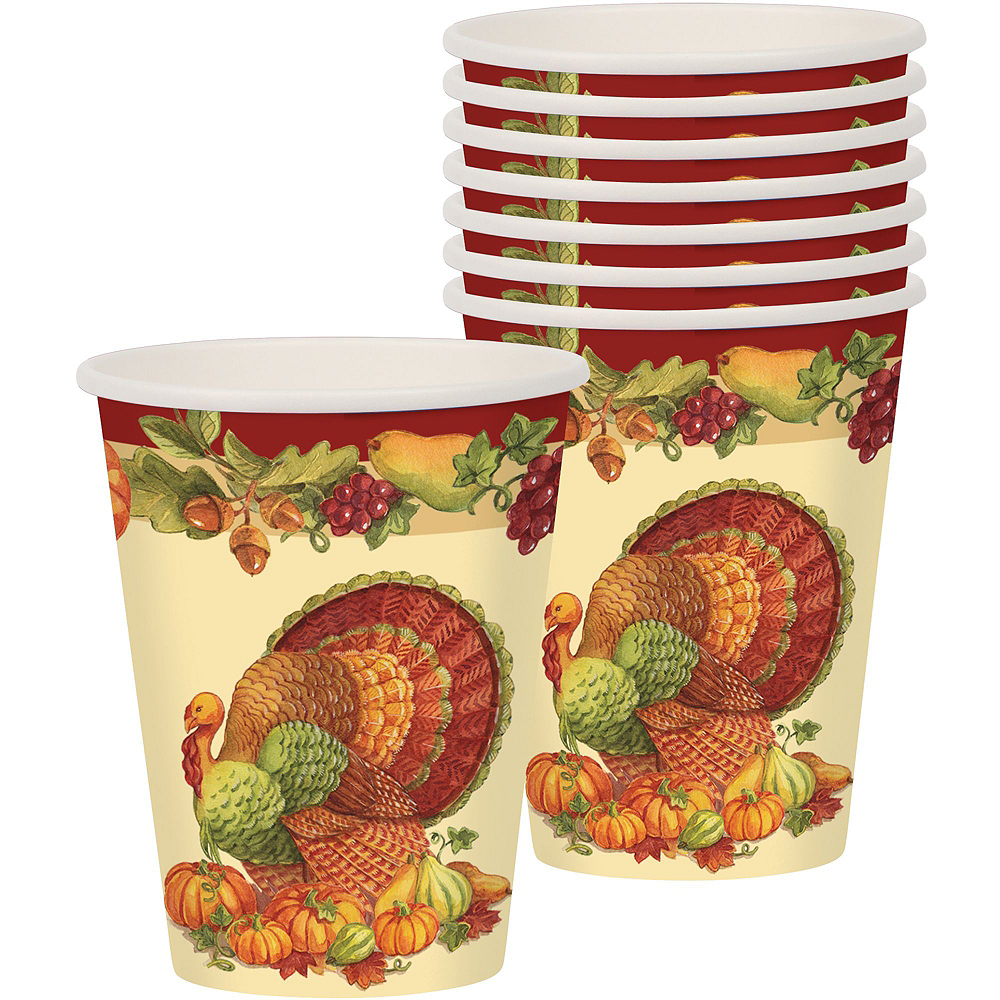 Joyful Thanksgiving Tableware Kit for 50 Guests Image #8