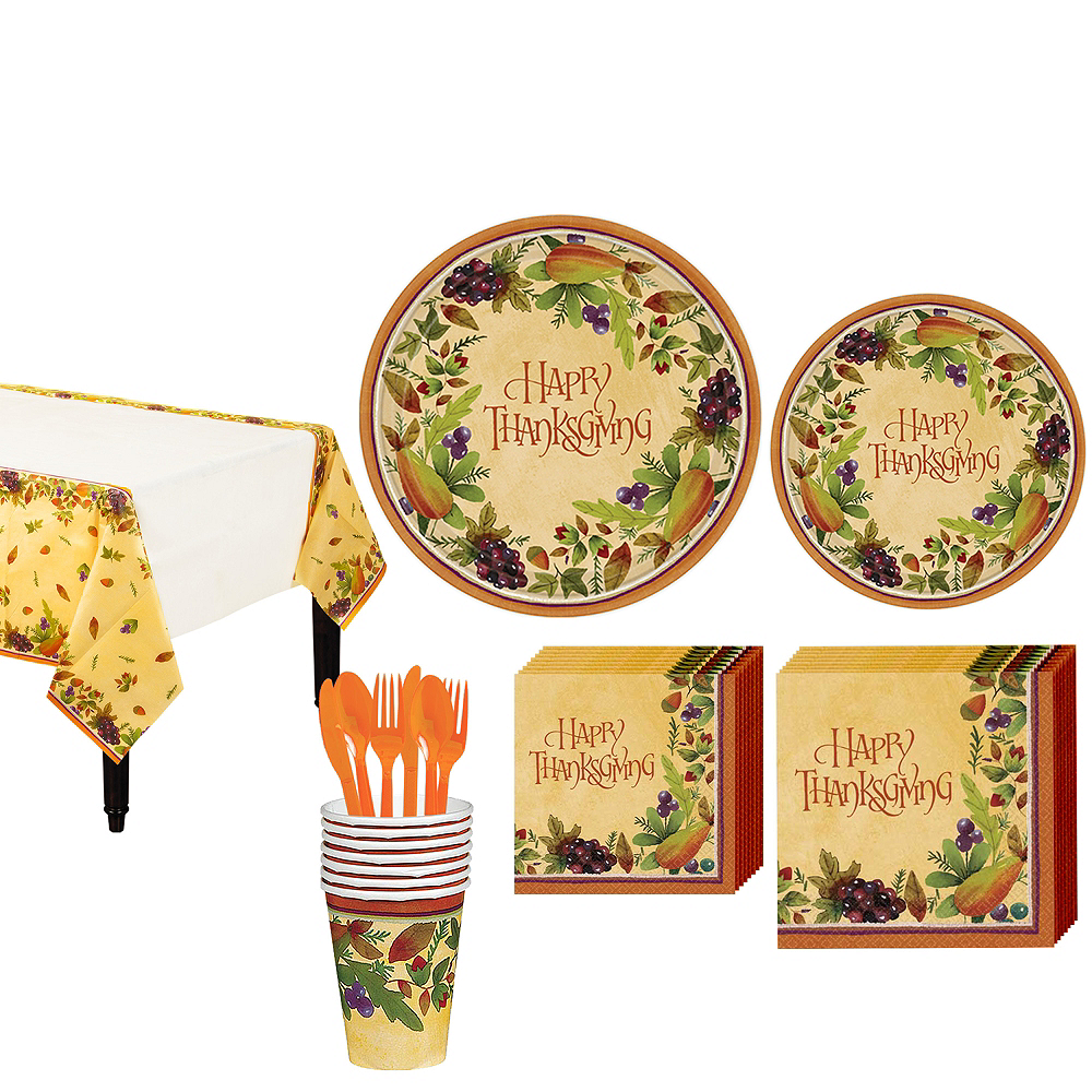Thanksgving Medley Tableware Kit for 8 Guests Image #1