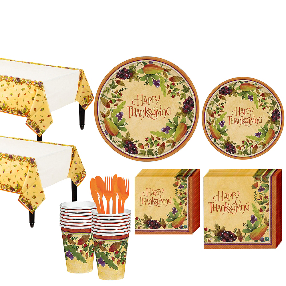 Thanksgving Medley Tableware Kit for 16 Guests Image #1