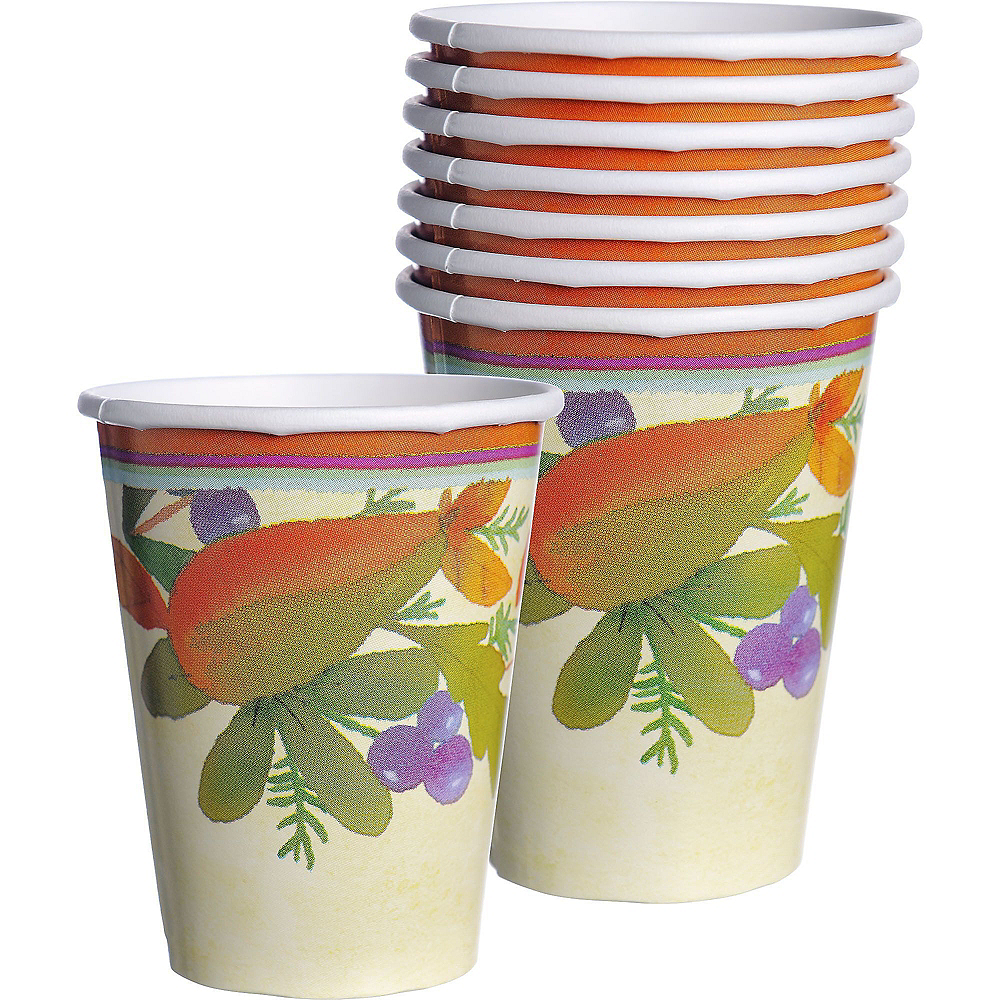 Thanksgving Medley Tableware Kit for 16 Guests Image #6