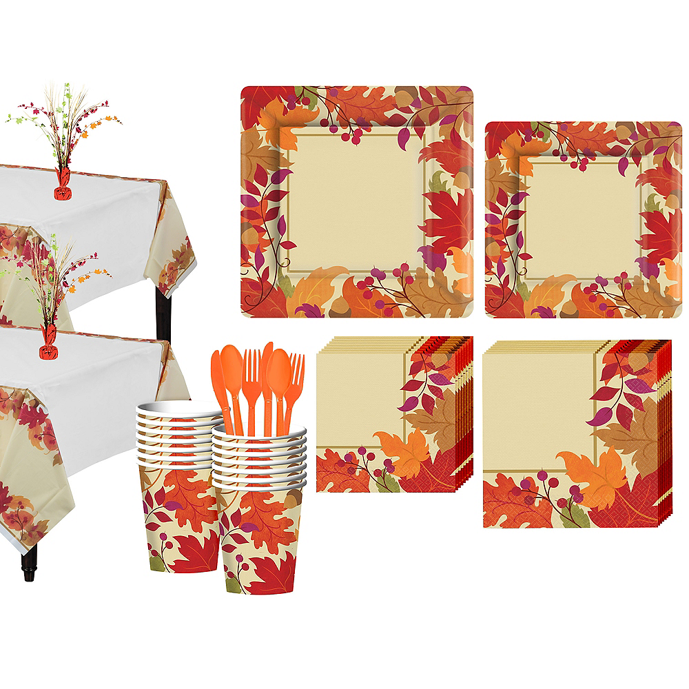 Festive Fall Tableware Kit for 18 Guests Image #1