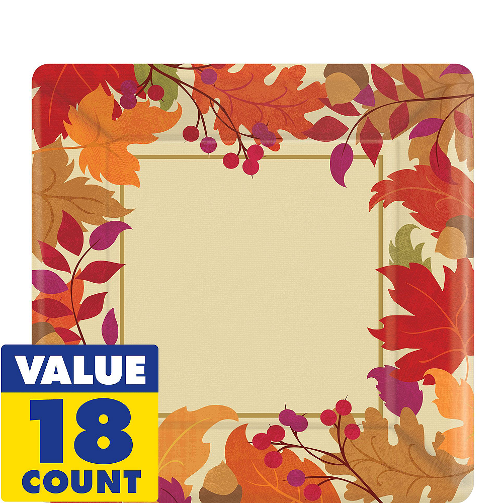 Festive Fall Tableware Kit for 18 Guests Image #2