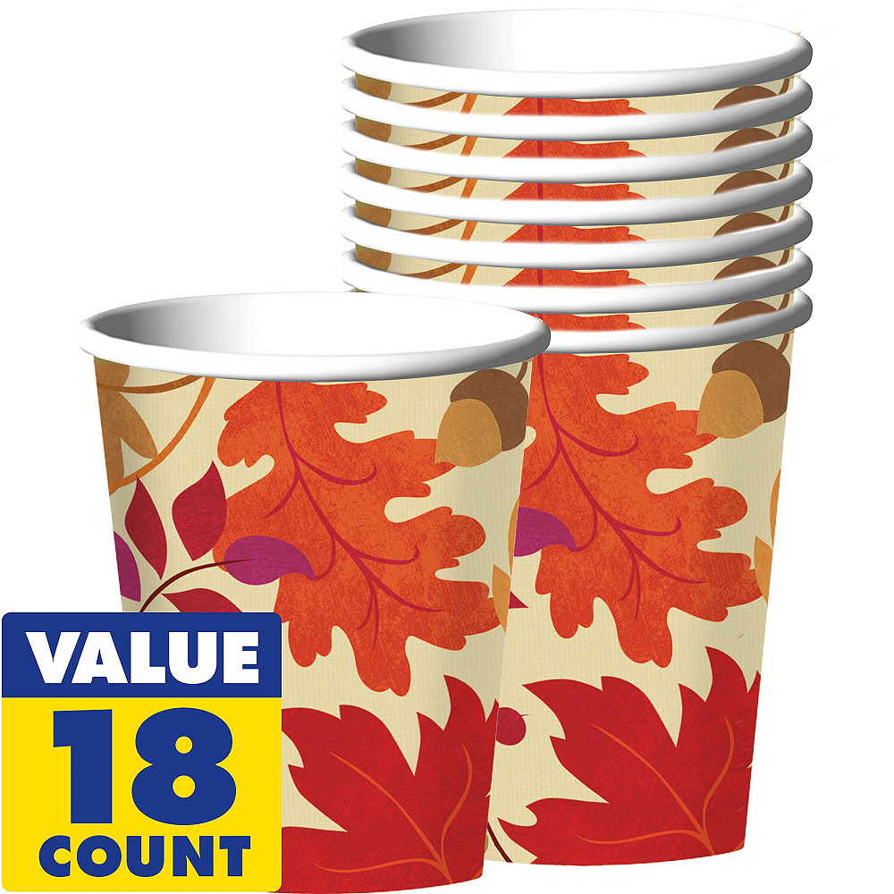 Festive Fall Tableware Kit for 18 Guests Image #6