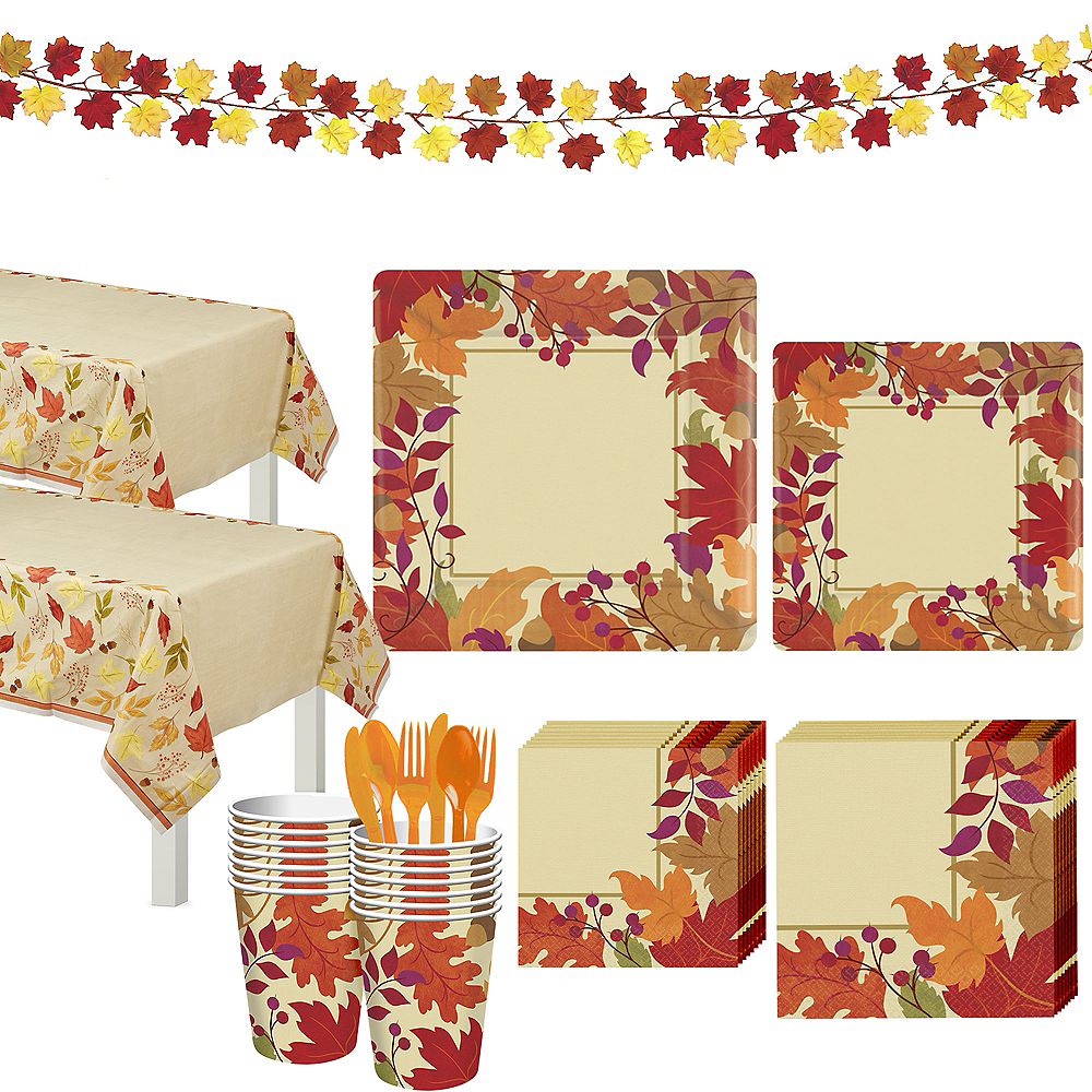 Festive Fall Tableware Kit for 36 Guests Image #1