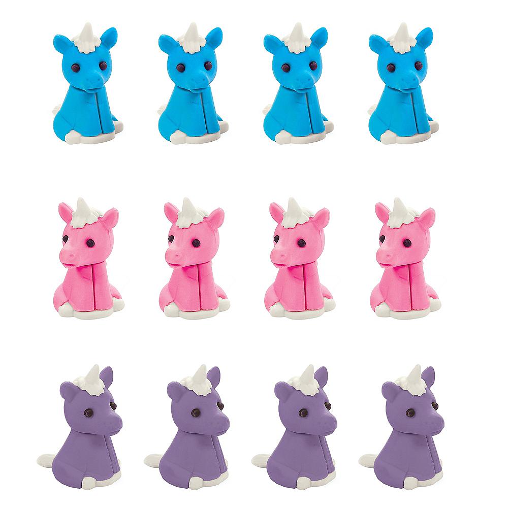 Unicorn Erasers 12ct Image #1
