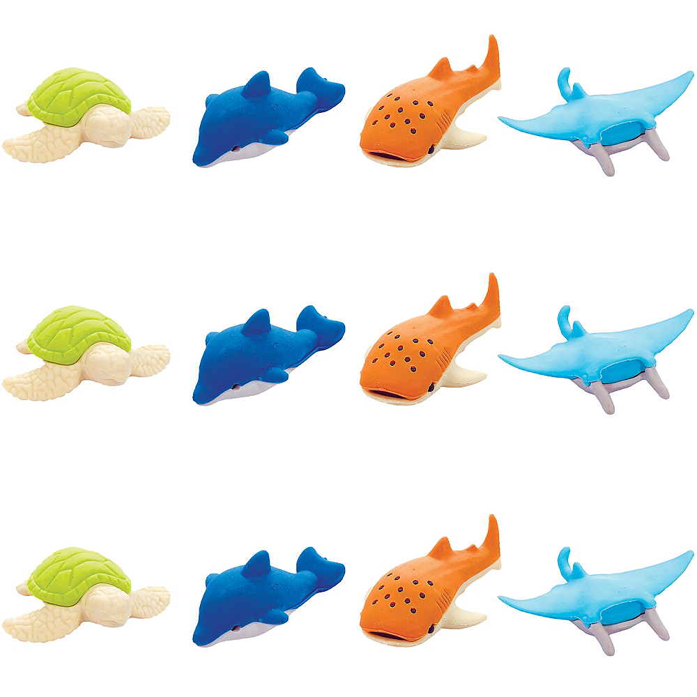 Nav Item for Sea Animal Erasers 12ct Image #1