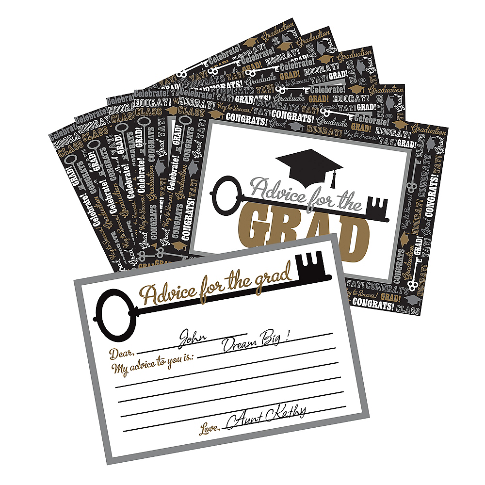 Nav Item for Graduation Advice Cards 24ct Image #1
