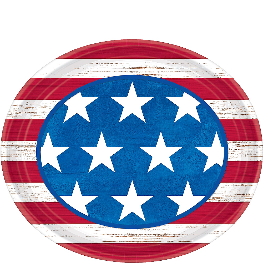 Americana Oval Plates 18ct Image #1