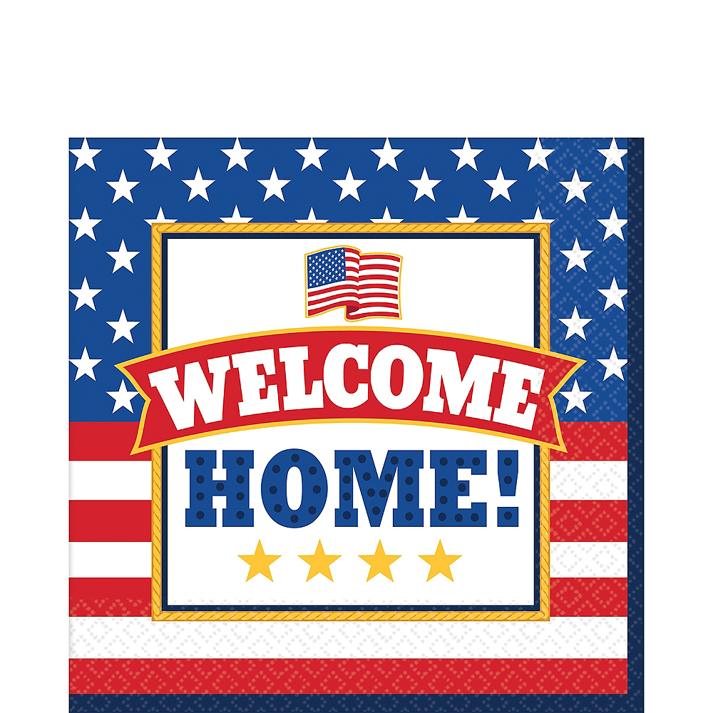 Patriotic Welcome Home Lunch Napkins 36ct Image #1
