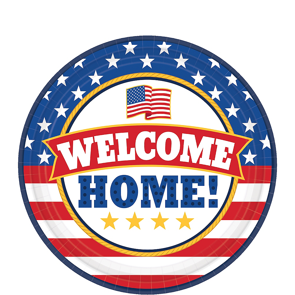 Patriotic Welcome Home Dessert Plates 18ct Image #1