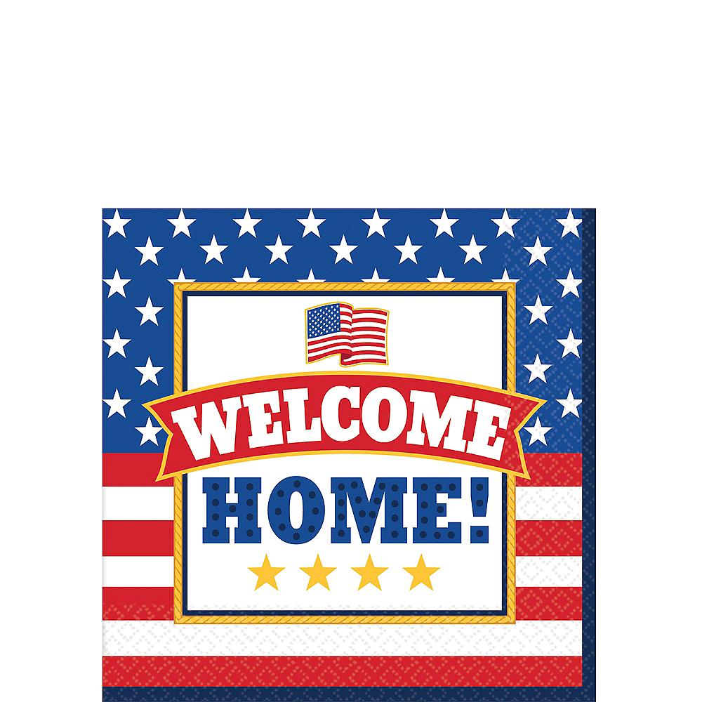 Patriotic Welcome Home Beverage Napkins 36ct Image #1