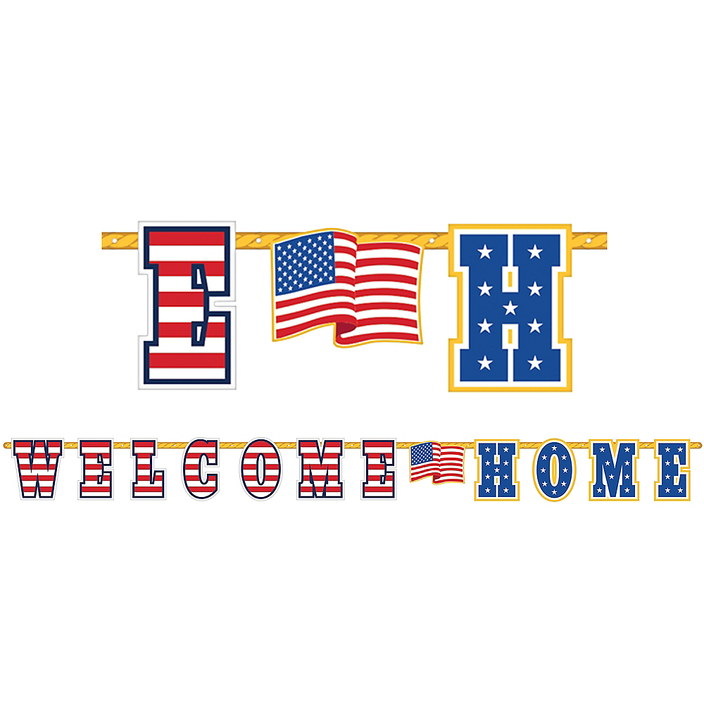 Patriotic Welcome Home Letter Banner Image #1