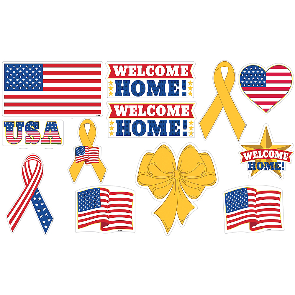 Patriotic Welcome Home Cutouts 12ct Image #1