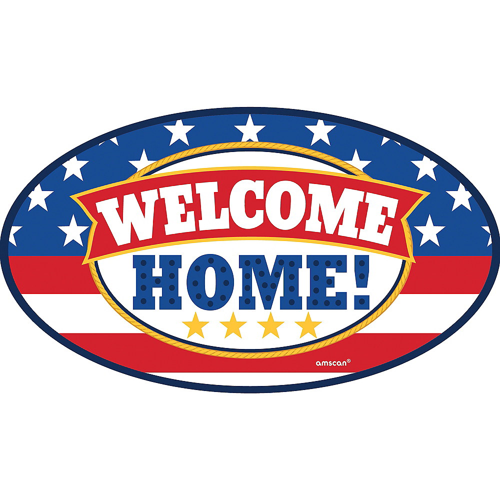 Patriotic Welcome Home Car Magnet Image #1