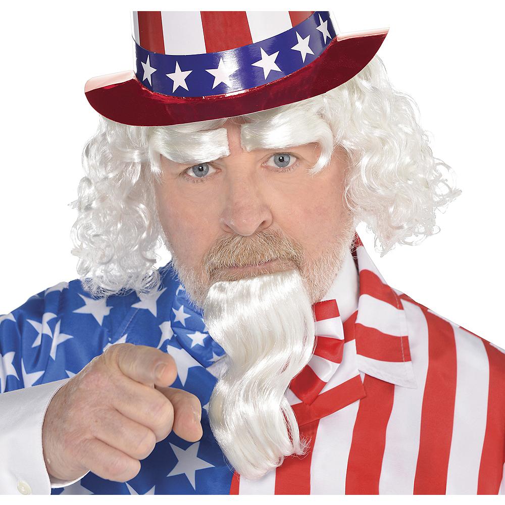 Uncle Sam Wig & Facial Hair Set Image #1
