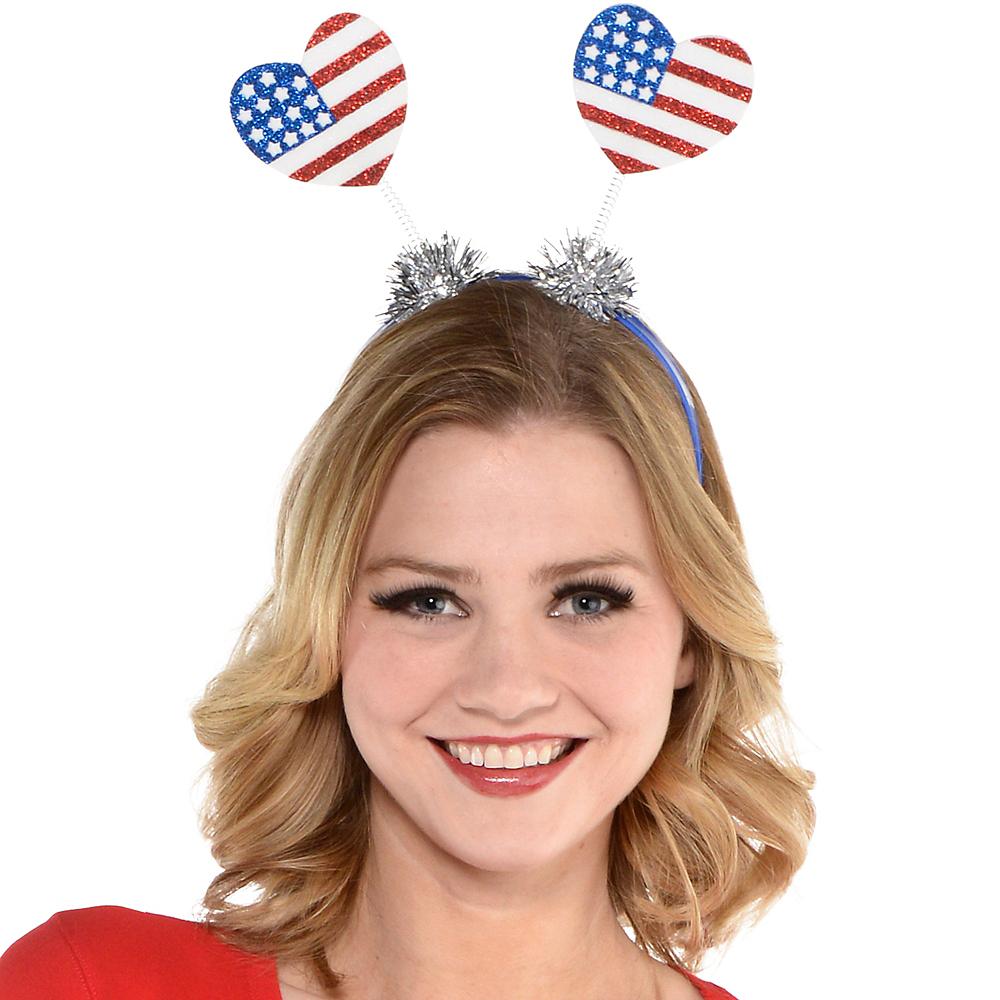 Glitter Patriotic Heart Head Bopper Image #2