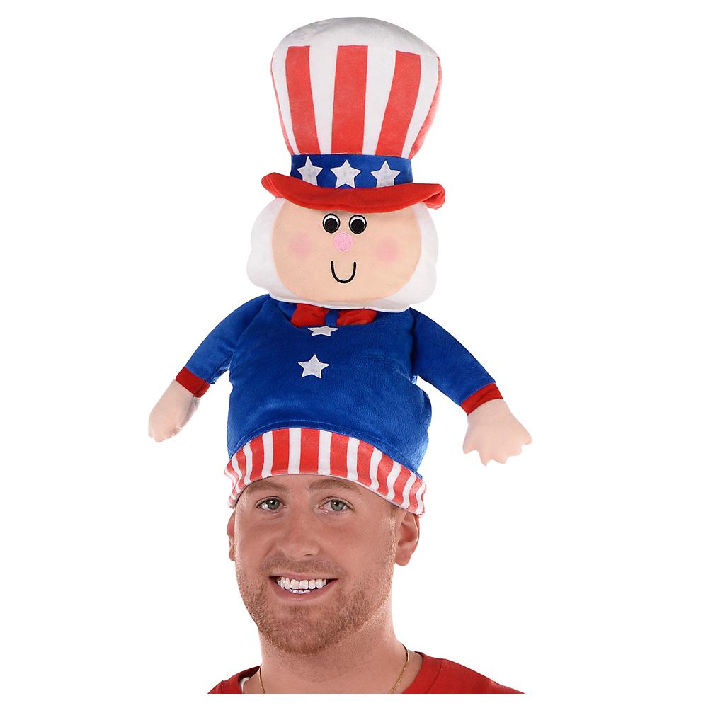 Plush Patriotic Uncle Sam Hat Image #1