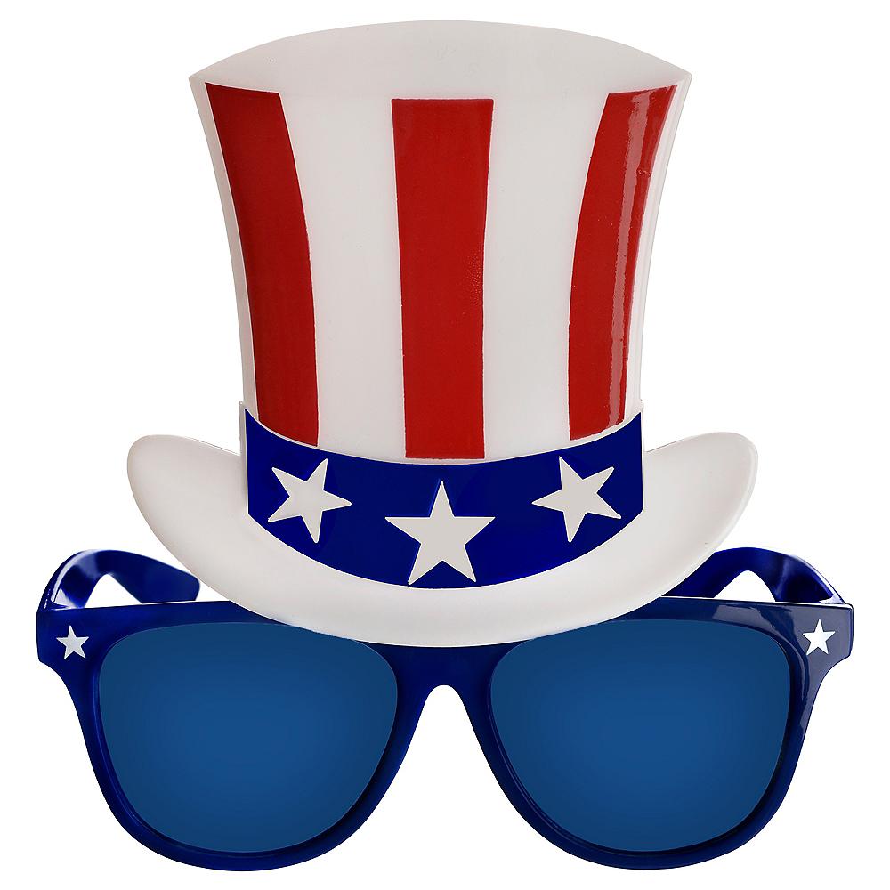 Patriotic Top Hat Sunglasses Image #1