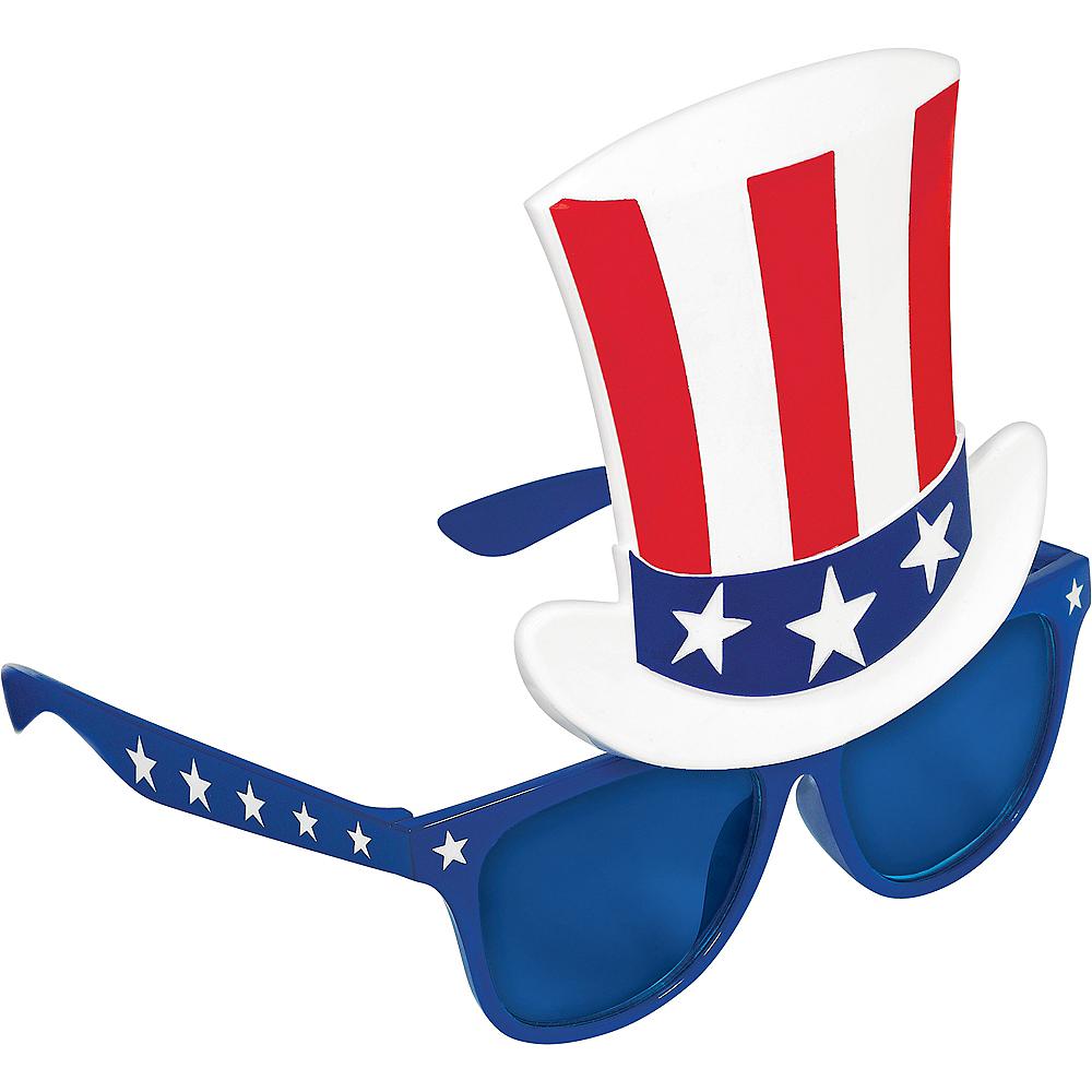 Patriotic Top Hat Sunglasses Image #2