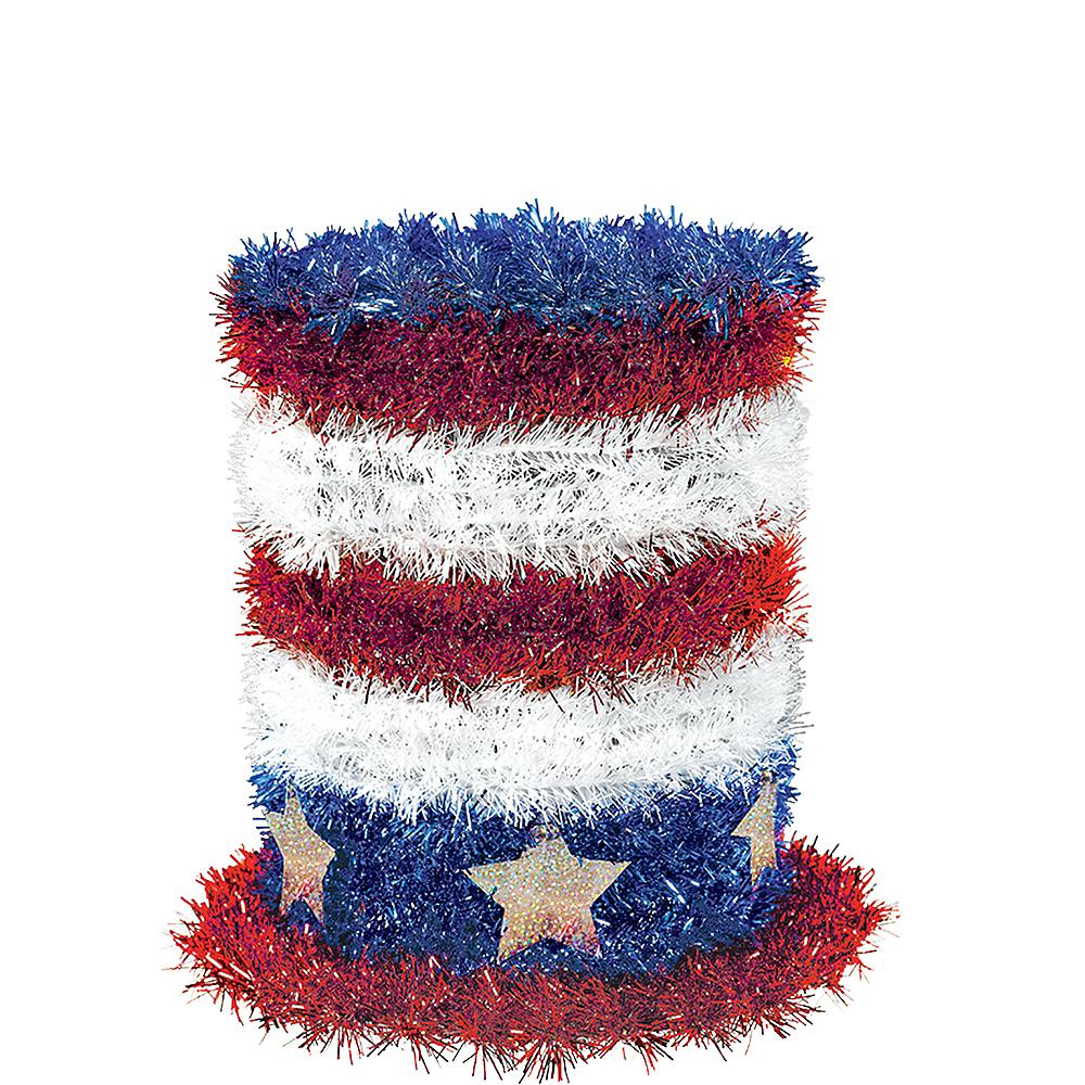 Mini Tinsel Patriotic Top Hat Image #1