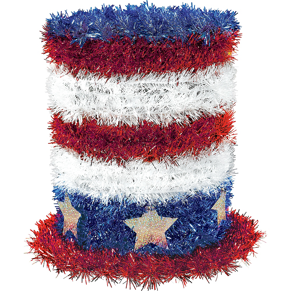 Tinsel Patriotic Top Hat Image #1
