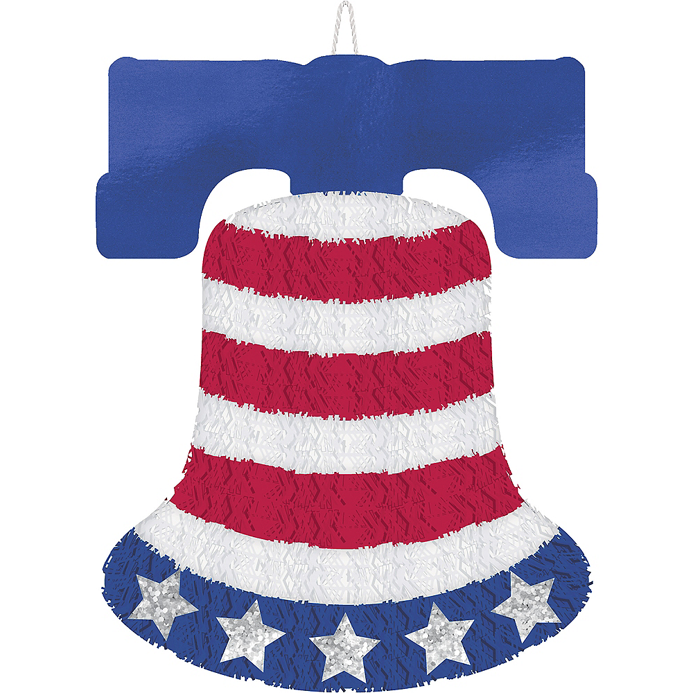 Tinsel Patriotic Liberty Bell Sign Image #1
