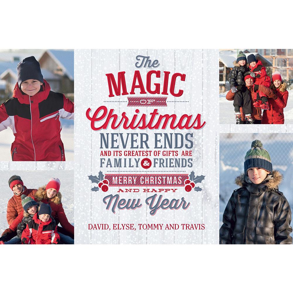 Custom The Magic of Christmas Collage Photo Card Image #1