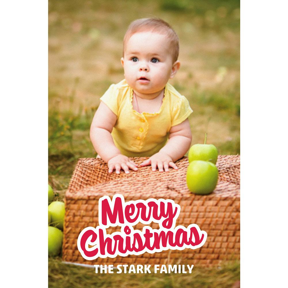Custom Merry Christmas Photo Card Image #1