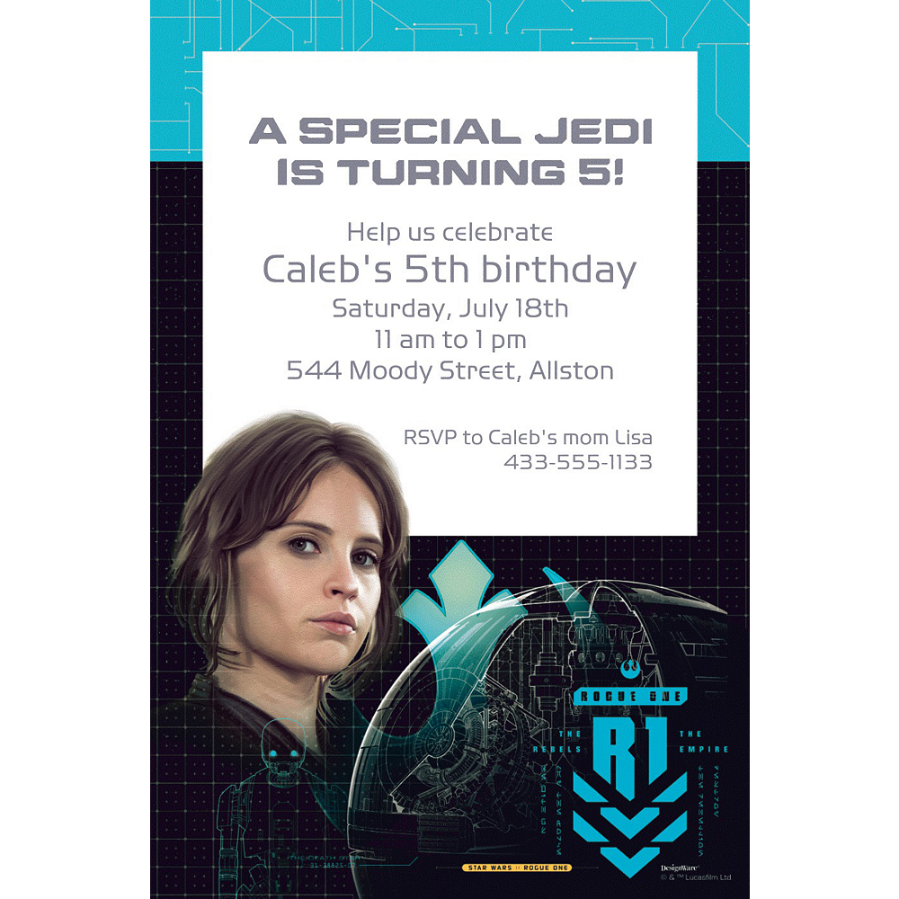 Custom Star Wars Rogue 1 Invitation Image #1